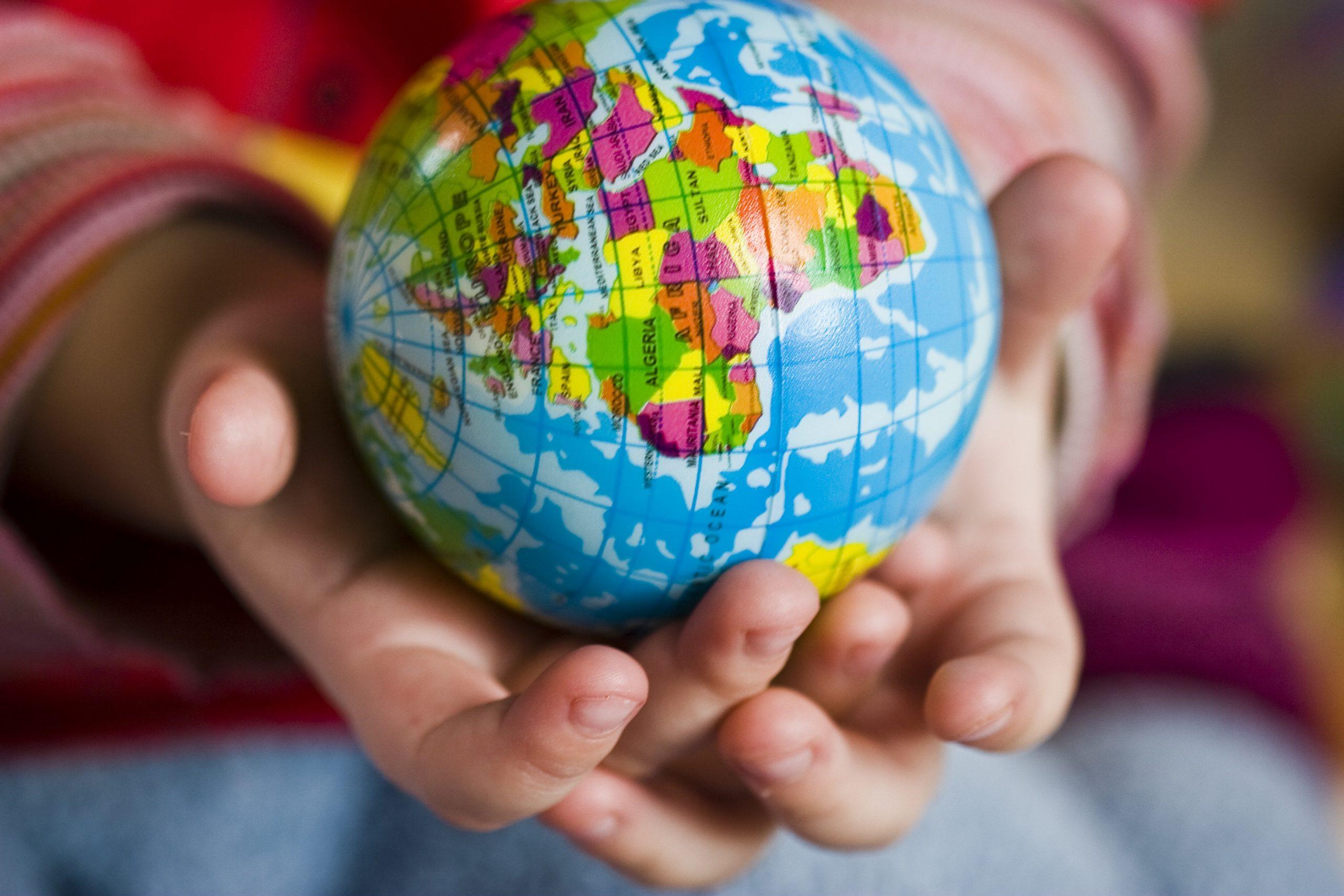 hand, world, ball